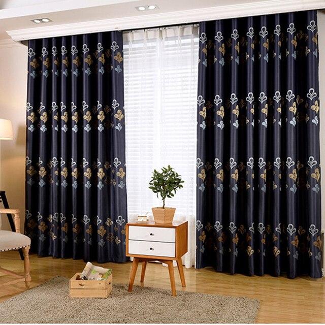 europischen und amerikanischen stil seitig gedruckt blackou vorhnge wohnzimmer dekoration fenster vorhang schlafzimmer blau luxus vorhnge - Vorhang Schlafzimmer Blau