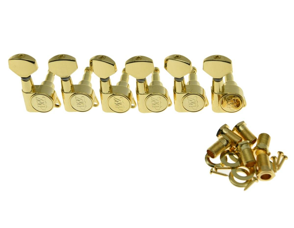 Dopro Wilkinson 6 Inline Gold E Z LOK Guitar Tuners Guitar Tuning Keys Machine Heads