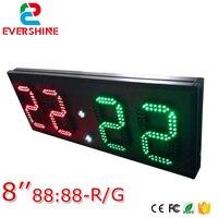 Venta 2 dígitos rojo y módulos de 2 dígitos verde módulos 8 Formato de pulgada 88 88