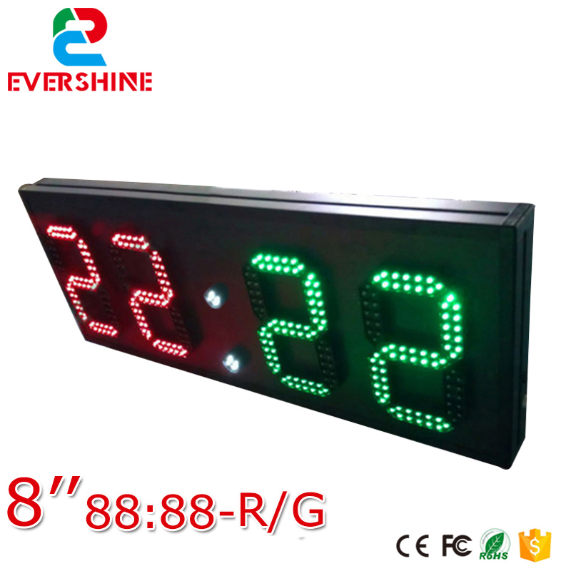 2-digit red modules and 2-digit green modules 8inch format 88:88 led digit led sign use for scoreboard gamecraft remote for outdoor tabletop scoreboard