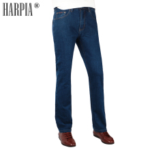 HARPIA New Women's Casual Jeans For Women Blue Simple Straight Denim Trousers Female Large Size Winter Warm Thicken Jeans Pants