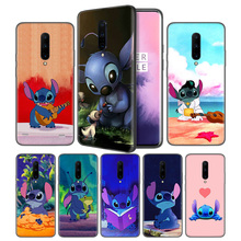 Cute Lilo Stitch Soft Black Silicone Case Cover for OnePlus 6 6T 7 Pro 5G Ultra-thin TPU Phone Back Protective