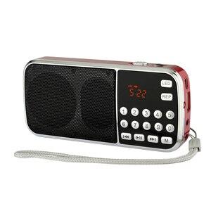 Image 5 - kebidu Mini Speaker MP3 Audio Player Flashlight Amplifier Micro SD TF FM Radio Fashion L 088 Portable HIFI Speaker