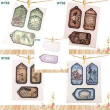 Wyse марки и матрицы Подарочная карточка метка для резки металла
