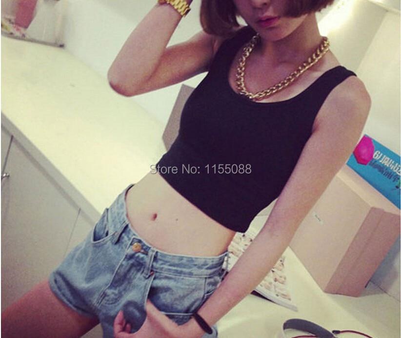 100pcs/lot Girl Short Crop Top 9 Colors Summer Style Sleeveless Croptops Fitness Tank Tops,Femme Vest Tube Nice Top