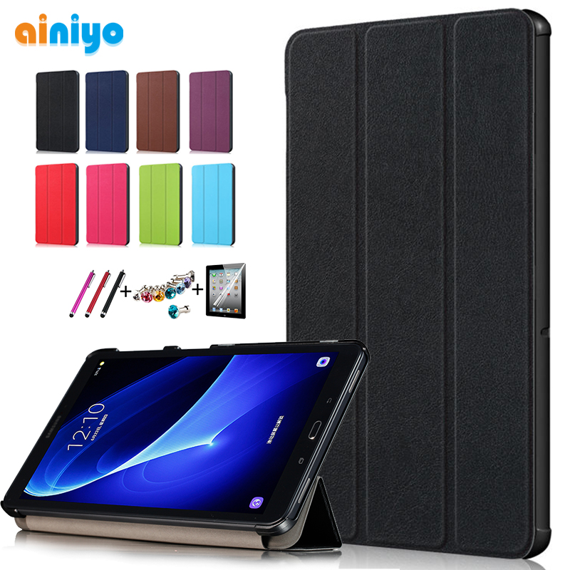 High quality Smart Flip Case For Samsung Galaxy Tab A 10.1 2016 T585 T580 SM-T580 T580N case cover +Gift +Screen ProtectorHigh quality Smart Flip Case For Samsung Galaxy Tab A 10.1 2016 T585 T580 SM-T580 T580N case cover +Gift +Screen Protector