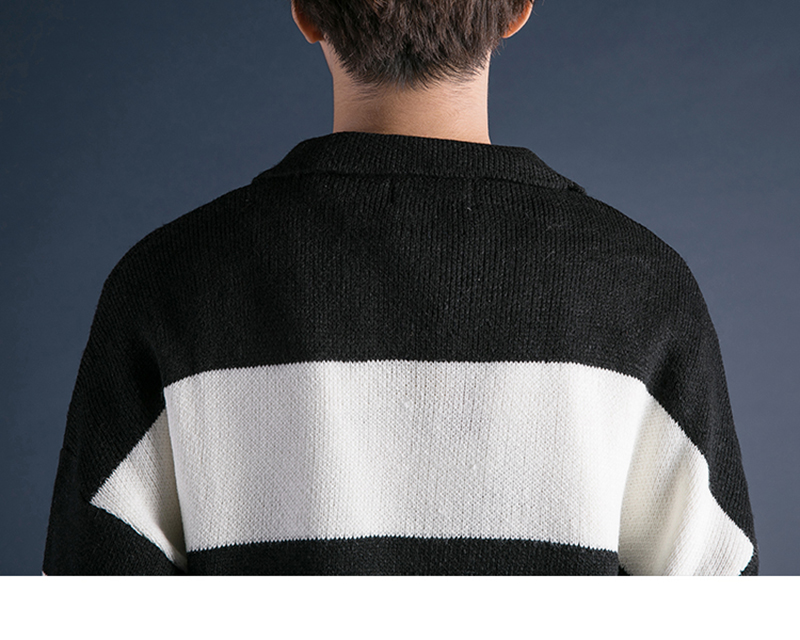 Korean Turtleneck Sweater Men Pullover Streetwear (27)