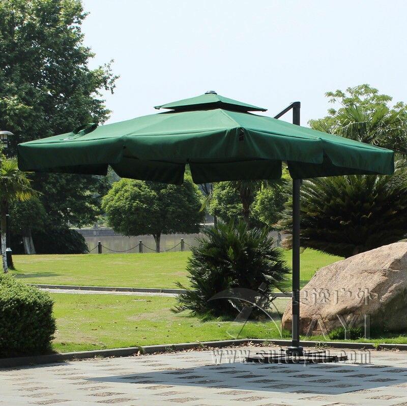 3*3 meter high quality deluxe roman umbrella patio umbrella garden umbrella parasol ( no stone base) umbrella base resin base