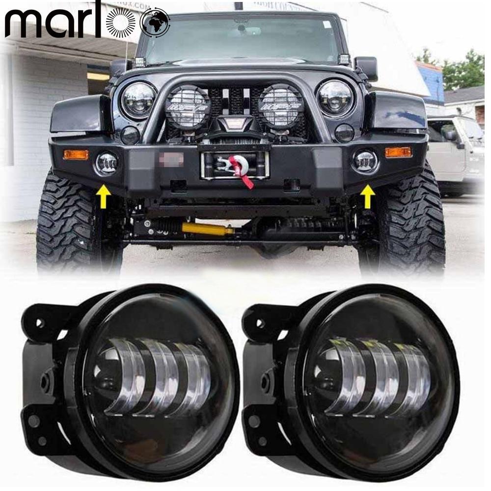 EU Plate LED Short Light 2pcs Jeep Wrangler TJ