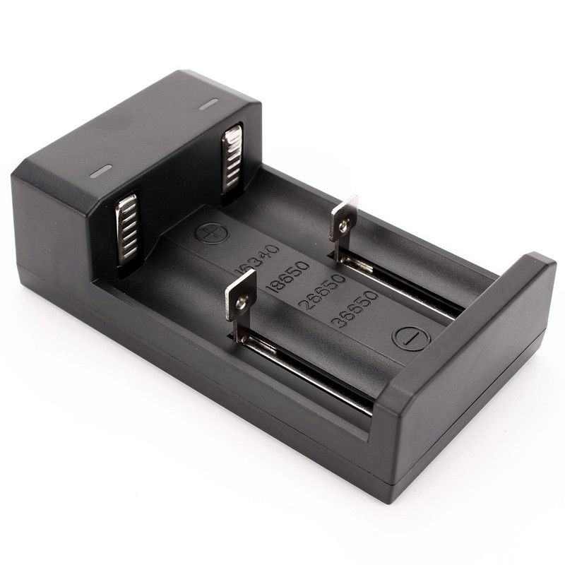 USB Charger 2 Slots 18650 26650 16340 36650 Rechargeable Battery Universal Charger USB Charger for battery(China)
