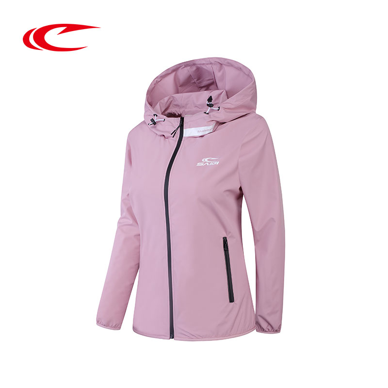 SAIQI Women Softshell Hiking Jacket Female Outdoor Camping Hoodie Ladies Windproof Coat Spring Thin Sweatshirt Women Clothes