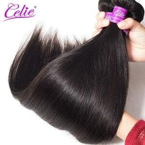 Image 4 - Celie Gerade Haar Bundles Brasilianische Haarwebart Bundle Angebote 3/4 Pcs Remy Haar Extensions Menschliches Haar Bundles