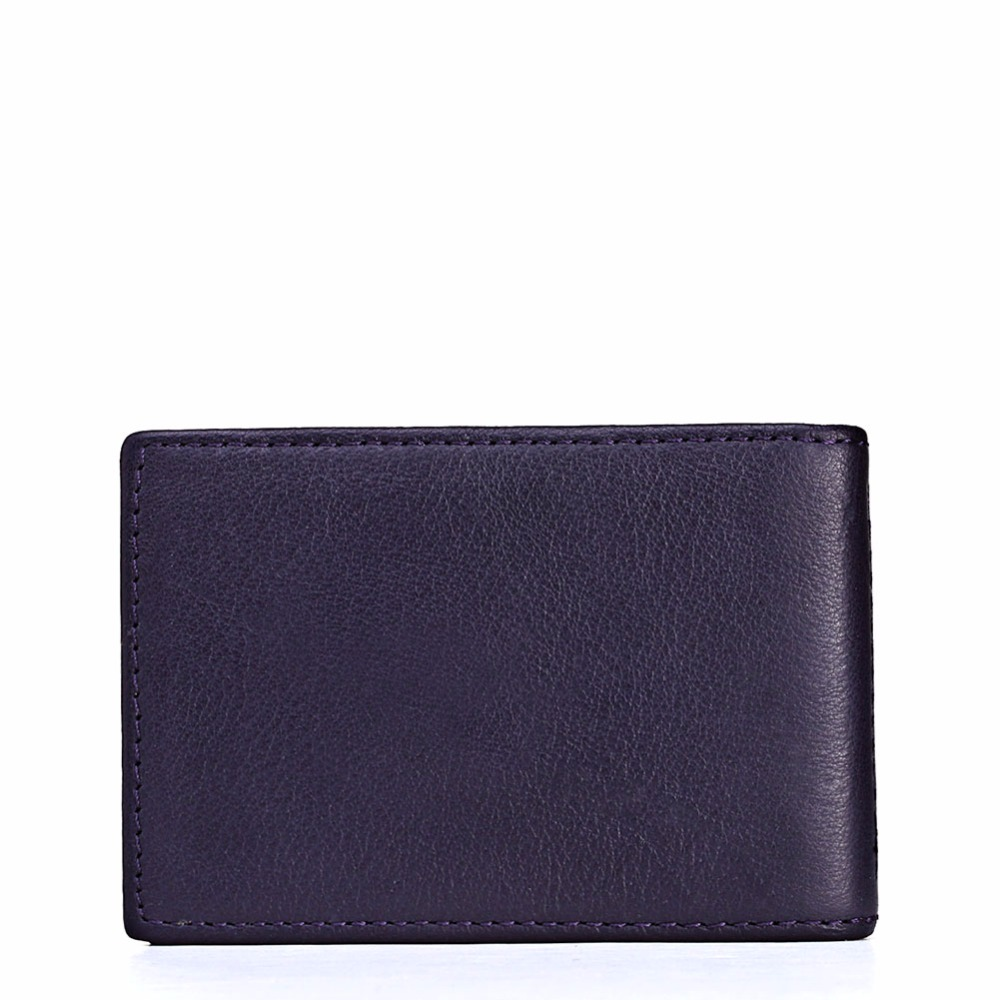 KAVIS Brand Business Credit Card Holder Mini Wallet Bags 100% Genuine Leather Bank Card Purse Bag Wallet Men Leather Card Holder