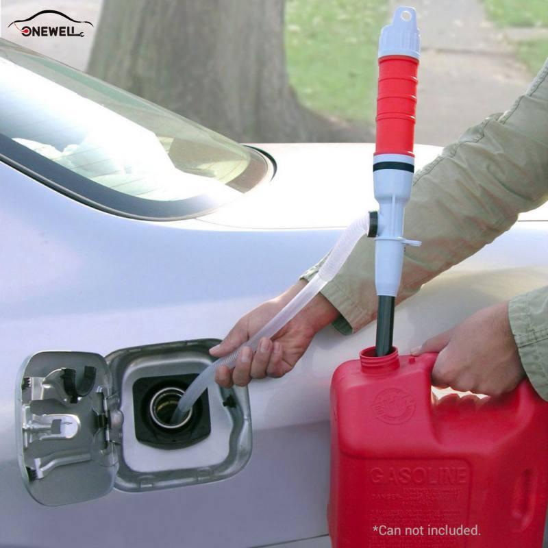 ONEWELL bomba marca pilas Liquid Transfer agua aceite Gas herramientas portátiles succión del coche bomba eléctrica Dropshipping