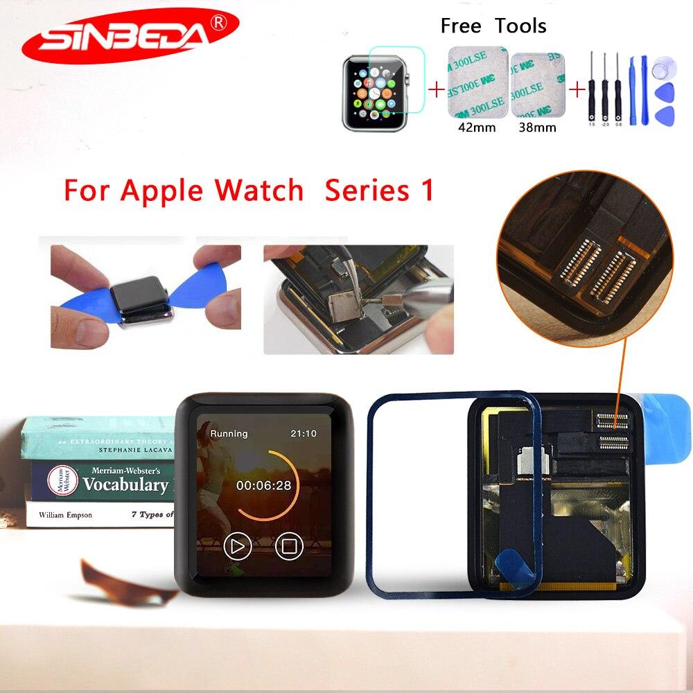Sinbeda Pour Apple Montre LCD numériseur à écran tactile pour Apple Montre Série 1 LCD avec Adhensive pour Apple Montre 7000 Affichage