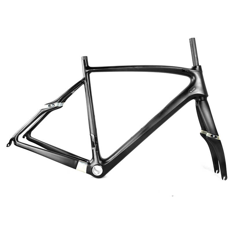 2017 Carbon Fiber Bicycle Frame Racing Bike Carbon Bike Frame+Fork+Seatpost+Headset For Carbon Road Bike 53cm 55cm 58cm fixed gear bike frame matte black bike frame fixie bicycle frame aluminum alloy frame with carbon fork