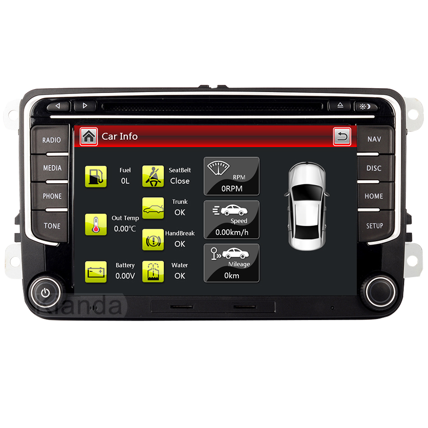 Image 2 - RNS 510 car radio for Volkswagen Golf Polo Passat b6/b7 Tiguan octavia with 3G GPS Bluetooth Radio USB SD Steering wheel Control-in Car Multimedia Player from Automobiles & Motorcycles