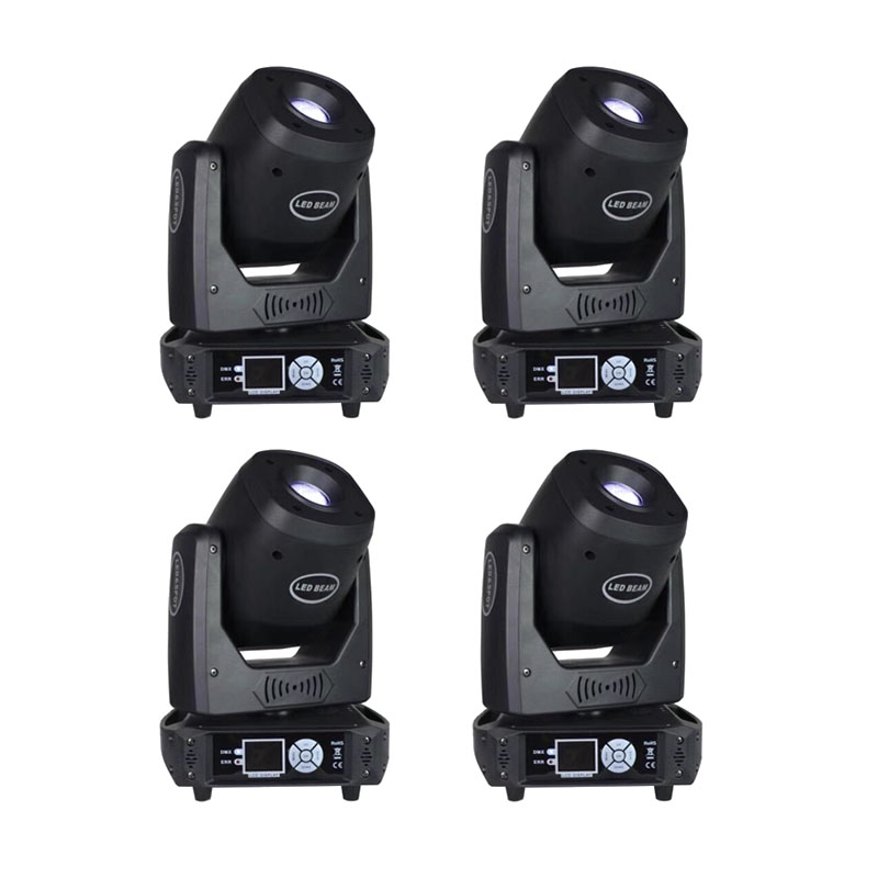 4pcs/lot Bar Smart KTV Room High Brightness 100W Gobo Moving Head Lights Voice Control Rotatable Prism Stage Lighting