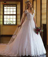 Luxury Wedding Dress Ball Gown Backless Tulle Lace Beading Crystal Pearls Bridal Gowns 2019 New Custom Made WH26M
