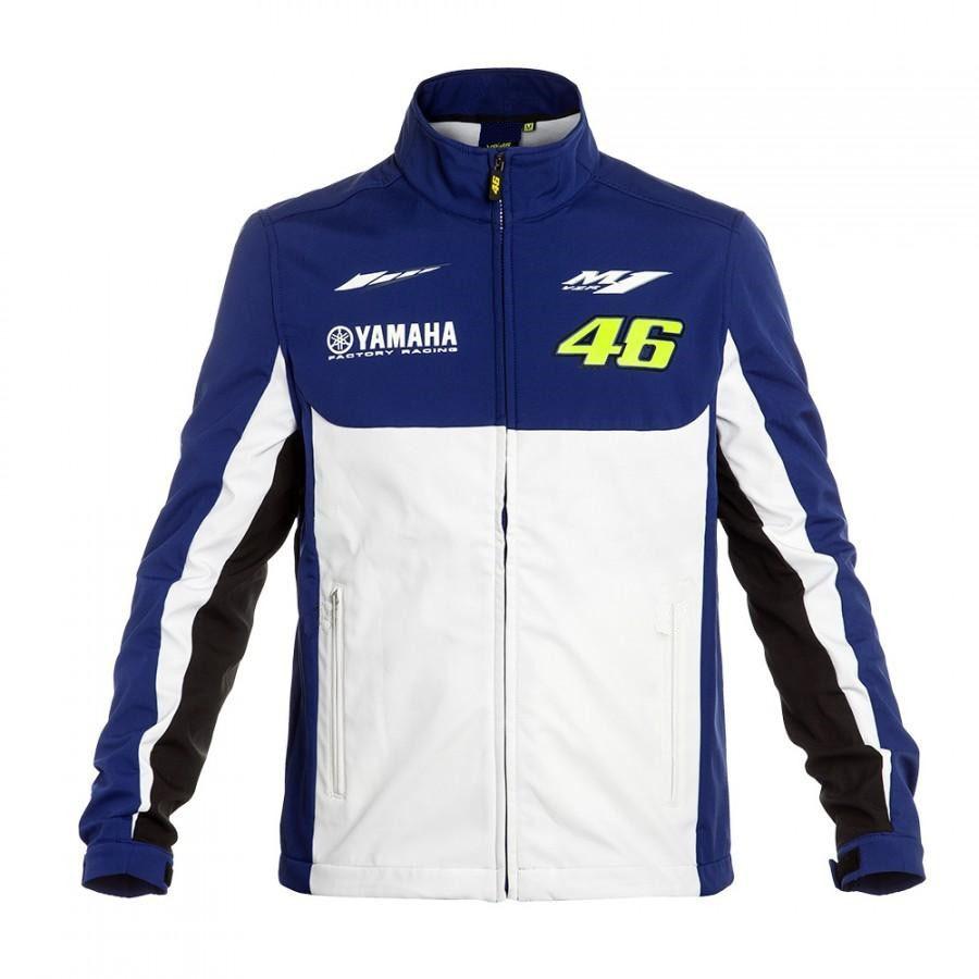 2018 Motorcycle Riding Sport Jacket Coat VR46 for Yamaha Valentino Rossi 46 Dual M1 Racing Team MotoGP Windbreaker Jacket White