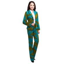 3753f5102 Africano ropa de mujer trajes Ankara moda chaqueta con pantalones plus  tamaño trajes de pantalón trajes de boda