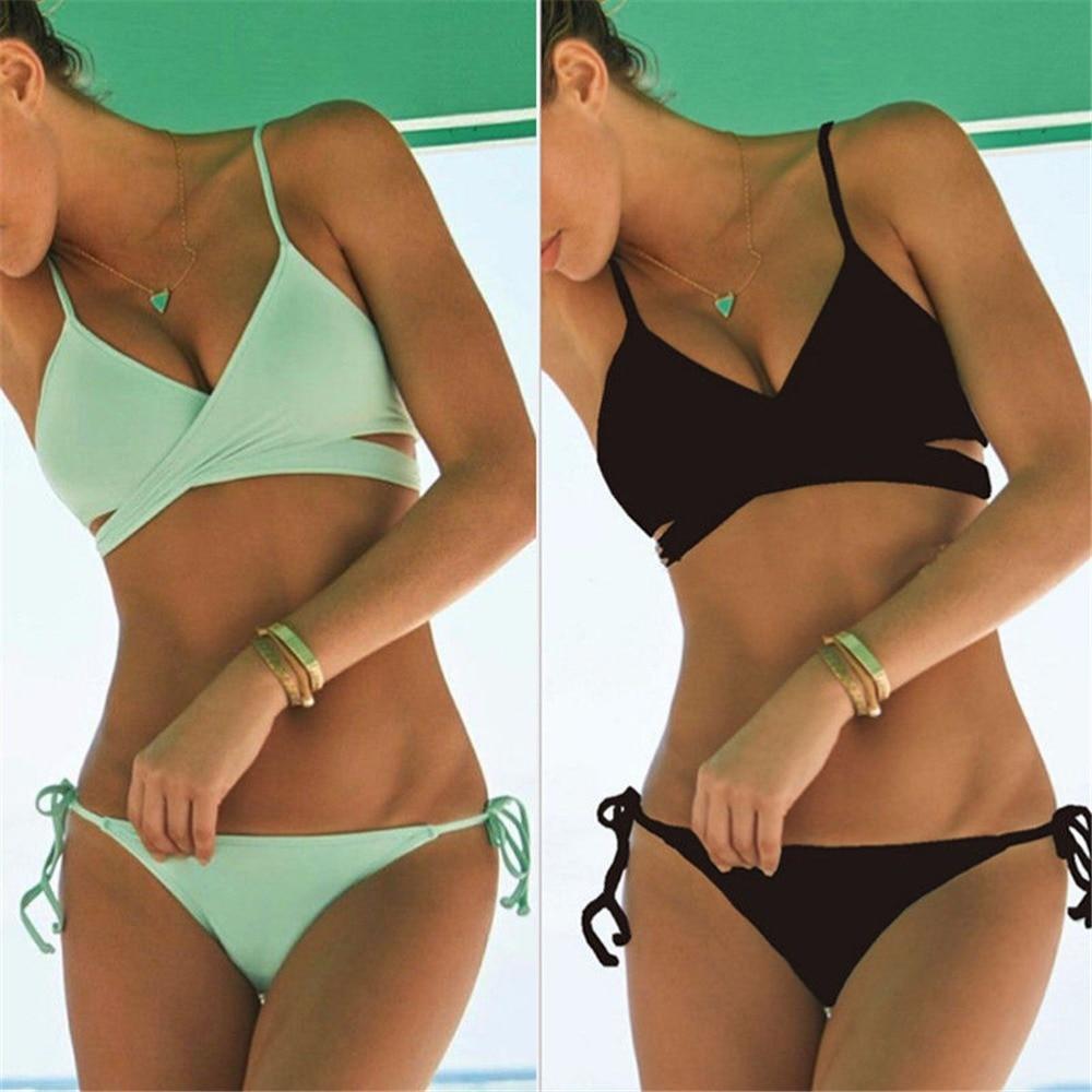 a3df4c7f453 New 1PC Women Push Up Padded Bra Bandage Bikini Set Swimsuit Triangle  Swimwear Bathing Suit