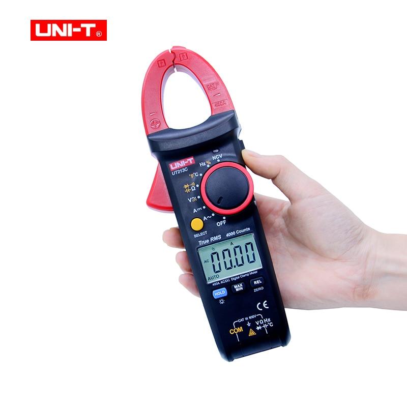 все цены на UNI-T UT213C True RMS 400A Digital Clamp Meter AC/DC/Resistance/Capacitance/Frequency/Temperature Clamp Multimeter