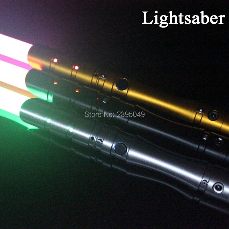 Neue 15 Arten 1 Stücke Cosplay Lichtschwert Mit Light Sound Led Rot grün Blau Saber Legierung Skywalker Schwert 100 cm Sound Luke Spielzeug Geschenk