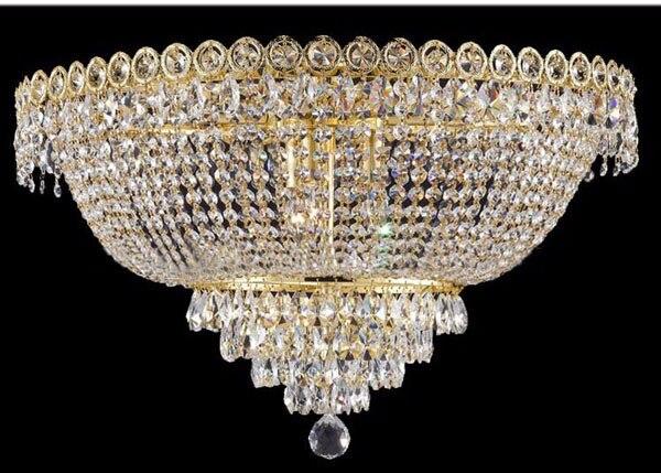 Phube Lighting Modern Chrome Crystal Ceiling Light Classic Gold