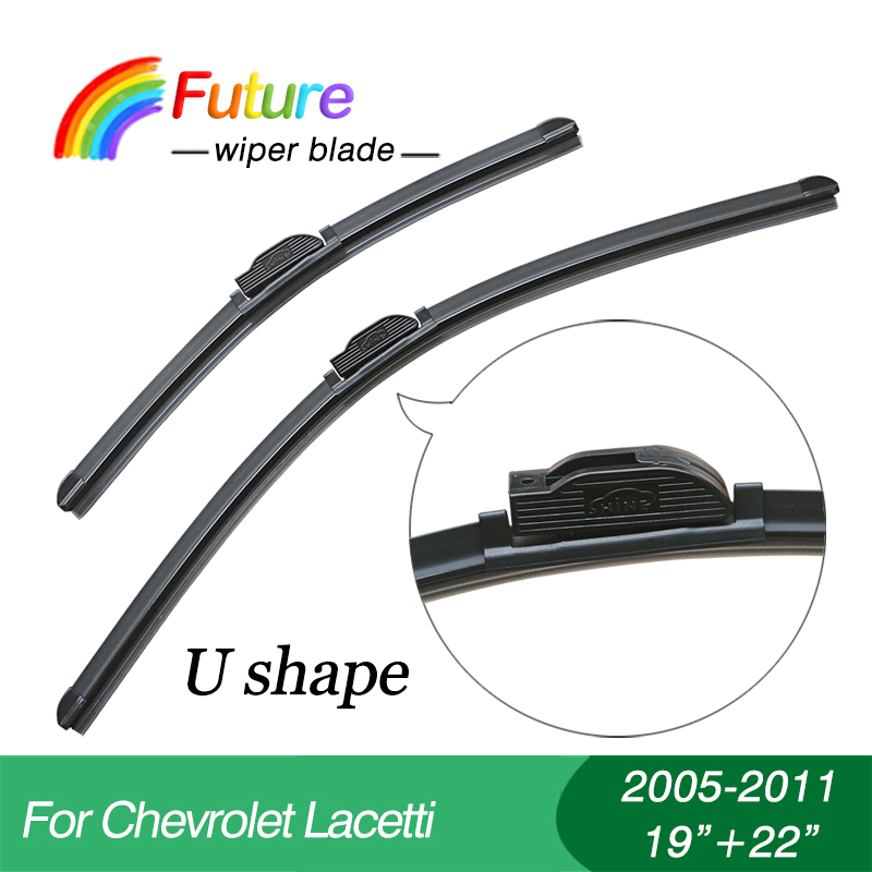 1 set Wiper blades for Chevrolet font b Lacetti b font 2005 2011 19 22 car