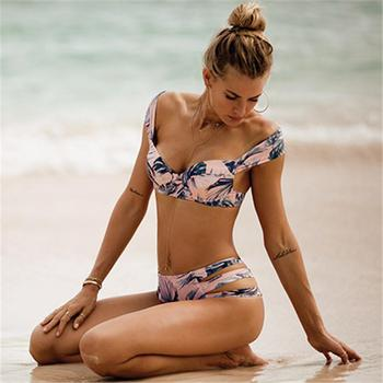 Sexy Bikini Women Swimsuit 2020 Summer Bathing Swim Suits Push Up Bikini Print Swimwear Female Bikini Set Beach Wear Biquini XL 1