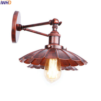 IWHD Loft Style Rust Wall Lamps Living Room 2 Heads Industrial Retro Vintage Wall Light Sconce Home Lighting Lamparas De Pared