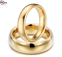 NFS Classic 8mm Gold Tungsten Carbide Wedding Bands Couples Rings Sets For Men And Women Never