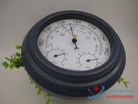 3 in 1 Aneroid 8 Acrylic Black Finish Traditional Barometer with Temperature and Hygrometer Humidity (White Dial) b2802
