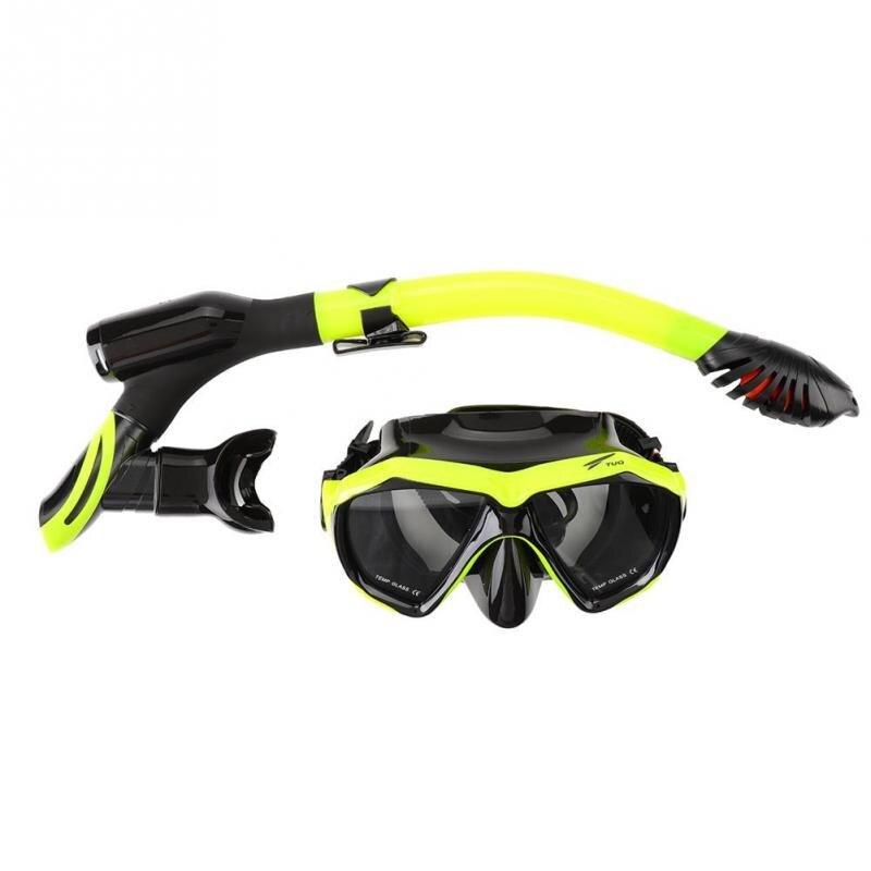 TUO Professional Scuba Diving Mask Silicone Mask Snorkel Anti-fog Diving Mask Snorkel Full Dry Tube Underwater Swim Equipment