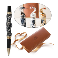 High Quality Luxury JINHAO Snake Ballpoint Pen Novelty Metal Cobra 3D Pattern Ball Pen for Writing Business Office Supplies Gift