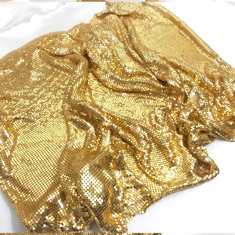 150*90 CM moda złoty metalowa zakładka metalowe tkaniny cekiny skorzystaj z do odzieży bieżnik zasłony worki na buty do dekoracji domu w Materiał od Dom i ogród na  Grupa 2