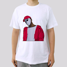 Summer Plus Size Fashion Men T shirts Xxxtentacion Casual White Funny Cartoon Printed Hip Pop Cotton Tops Tees