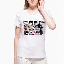 Summer Kpop Women T-shirt New Female Idol Group Hipster Girl T Shirt Punk Style Basic Unisex Femme Hip-hop Kawaii Top L9K122