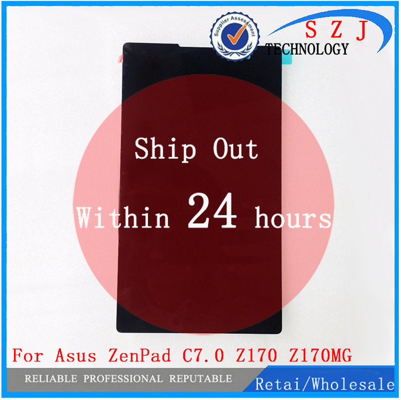 New 7'' inch For Asus ZenPad C7.0 Z170 Z170MG Z170CG Tablet Touch screen Digitizer Glass+LCD Display Assembly Free shipping free shipping original new 7 inch assembly lcd screen bp080wx6 400 sl007pb20y0593 b00 touch screen ck737