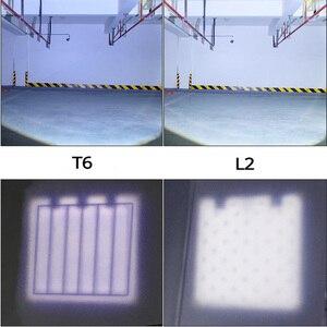Image 5 - SHENYU مستشعر الأشعة تحت الحمراء LED كشافات قابلة للشحن زوومابلي دوران ضوء رئيس الشعلة كري XML T6 L2 المصباح التنزه التخييم