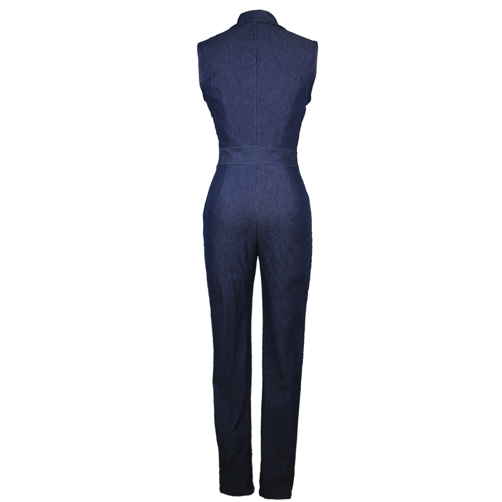 80cb2b6c700 New Summer Women Slim Casual Jumpsuits Jeans Deep V Sleeveless Rompers  Female Sexy Club Zipper Overalls Macacao Feminino 2019-in Jumpsuits from  Women s ...