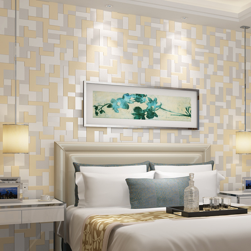 Wallpaper Pattern 3d Home Wallpaper Hd Arc Deep Embossed Bedroom ...