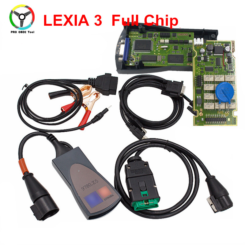 Alta Qualidade PCB Board Lexia3 PP2000 Fichas Completas Com Diagbox V7.83 921815C 3 Firmware Lexia Lexia Ferramenta de Diagnóstico Frete Grátis