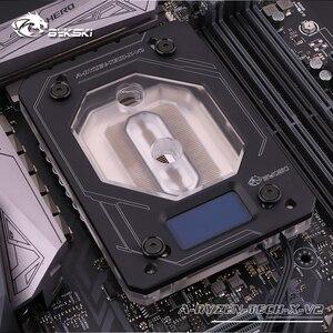 Image 3 - Bykski CPU su bakır blok kullanımı AMD RYZEN3000 AM3/AM4/TR4/1950X/X399 X570 anakart 5V A RGB sıcaklık ekran OLED