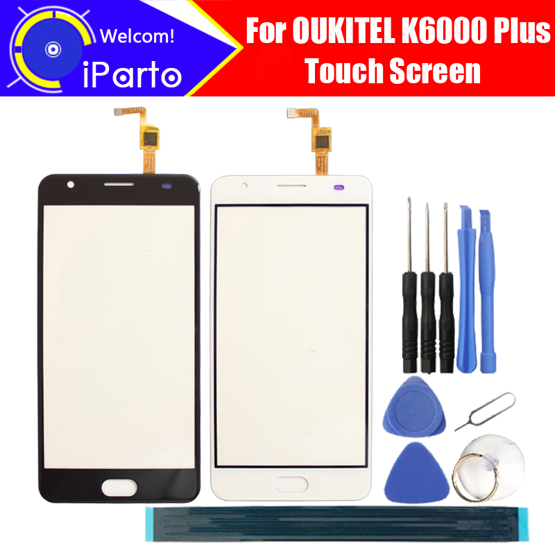 5.5 inch OUKITEL K6000 Plus Digitizer Touch Screen Glass100% Guarantee Original Glass Panel Touch Screen For K6000 Plus+tools