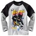 Бэтмен Мальчики футболки С Длинным Рукавом baby boy одежда для детей футболка мальчиков одежда серый shopkins миньоны