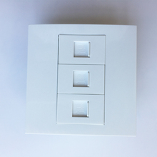 Durável Painel de Parede 86x86mm Soquete Branca Com Porta RJ45 x 3 Para A Instalação de Internet Em Casa Usando O Bom preço