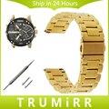 Часы из нержавеющей Стали Группа Quick Release Ремешок + Инструмент для Дизельных мужчины Женщины Наручные Пояса Браслет Черный Розовое Золото Серебро 20 мм 22 мм