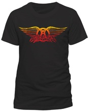 Sleeves Cotton Free Shipping Crew Neck Aerosmith Vintage Logo Men Short Sleeve Compression T Shirts
